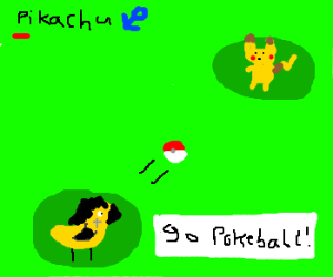 Gothic chick wants to catch a pikachu