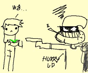 Impatient robber