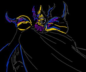 Golbez clad in darkness