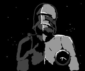 a Knight, at night