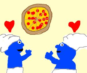 Smurfs love their pizza