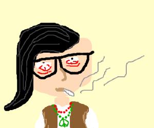 Hippy Skrillex getting high