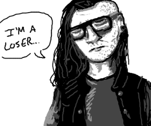 Skrillex disappointed with himself.