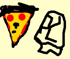 Pizza Hitler next to wrong Nazi symbol