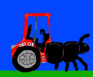 Beetle-tractor hybrid