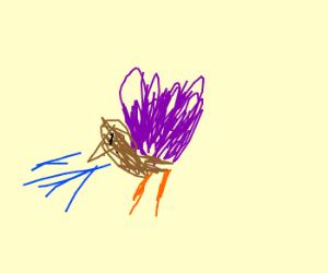 Sneezing purple turkey