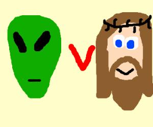 Alien vs Jesus