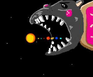 nyan cat eating the solar system