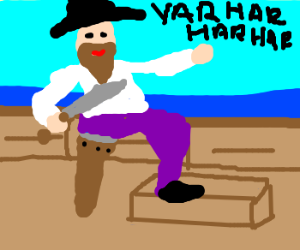 Captain Brown-beard, laughing out loud.