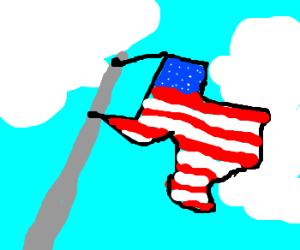 Texas shaped US flag