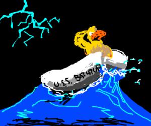 Ducky pilots the USS Bathtub