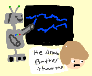 Robots can draw better than me