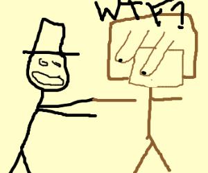 magician pulls off someones arm