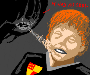 dementor somehow eats ron's ginger soul