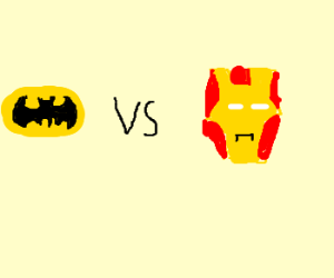 Batman logo vs Iron Man's 4head, right?
