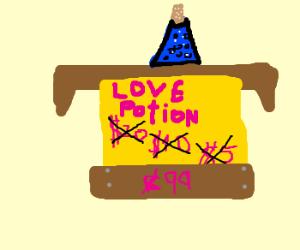 Suspiciously cheap love potion