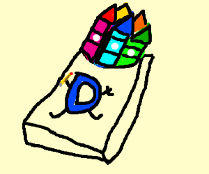 Drawception pack of crayons