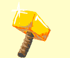goldplated hammer drawing by temox drawception