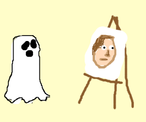 Ghost look at Picasso paint!
