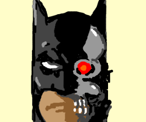 Batman impersonates the Terminator