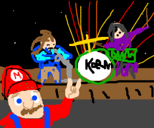 Mario rocks out to Korn
