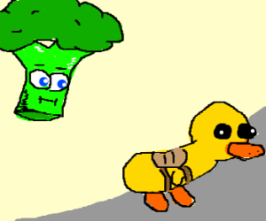 Broccoli watches Rubber Duck W/ Saddle