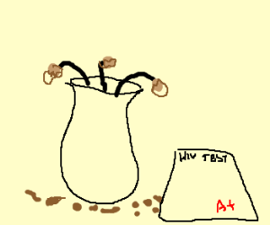Vase Of Dead Flowers Does Not Like Hiv Drawing By Ivan F Drawception