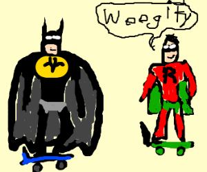 Aparently Batman n Robin met Rocktpower