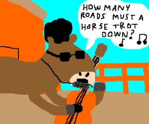 Bob Dylan as a horse