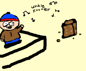south park Stan singing to a brownie