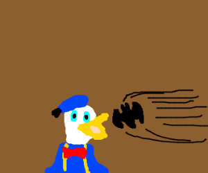 Donald Duck Gets Hit By Bat