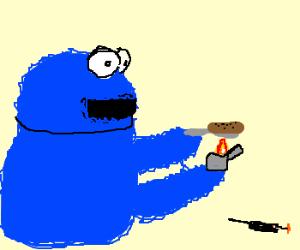 Cookie Monster hitting rock bottom