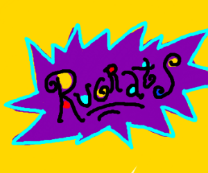 The Rugrats logo drawn really well.