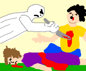 White phantom murders humans
