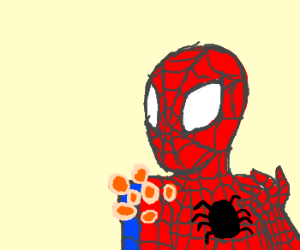 Spiderman's shoulders sprout Timbits