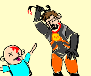 Gordon freeman kills with crowbar