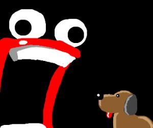 I'M A' FIRIN' MAH LAZER!! at dog