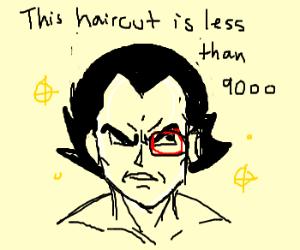 Vegeta gets a hircut