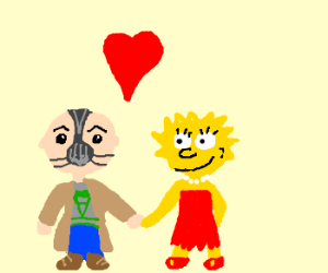 Lisa is dating little Bane