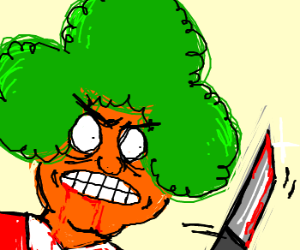 Oompa Loompa with a knife
