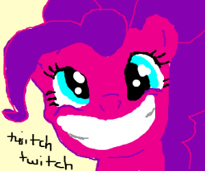 Pinkie Pie pony wants to make you smile!