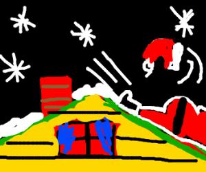 The Night Santa Went Crazy Drawception