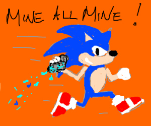 Sonic runs away with wet rock