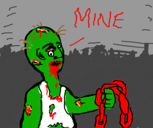 A zombie claims possession of red rain