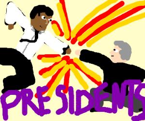 Obama vs Bush... fight!