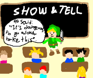 link is an excited child telling a story