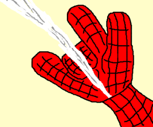 spiderman shooting web drawings