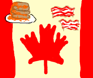 Canada! Pancakes and bacon!