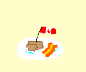 Canadian pancakes and bacon