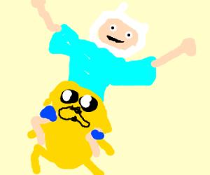 aliens riding a man-dog
